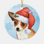 Happy Howliday Chihuahua Double-Sided Ceramic Round Christmas Ornament