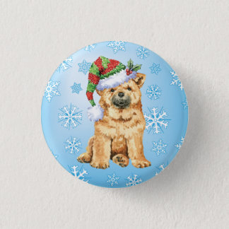 Happy Howliday Chow Chow Button