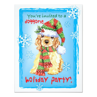 Happy Howliday Cocker Spaniel Card