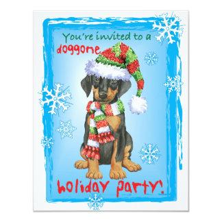 Happy Howliday Doberman Card