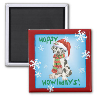 Happy Howliday Great Dane Magnet