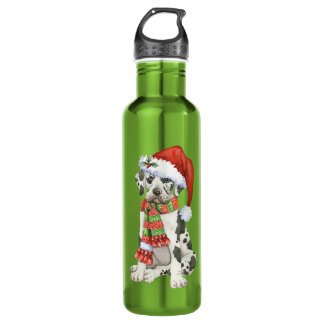 Happy Howliday Great Dane 24oz Water Bottle
