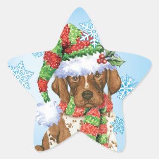 Happy Howliday GSP Star Sticker