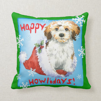 Happy Howliday Havanese Throw Pillow
