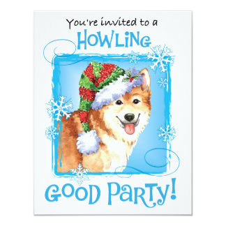 Happy Howliday Icelandic Sheepdog Card