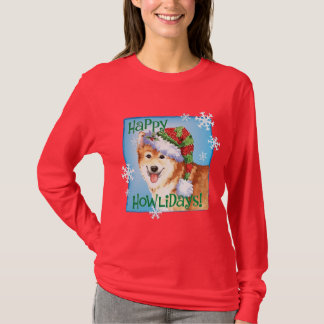Happy Howliday Icelandic Sheepdog T-Shirt