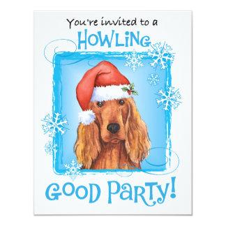 Happy Howliday Irish Setter Card