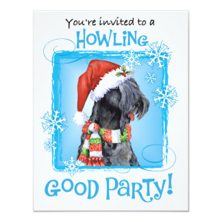 Happy Howliday Kerry Blue Terrier 4.25x5.5 Paper Invitation Card