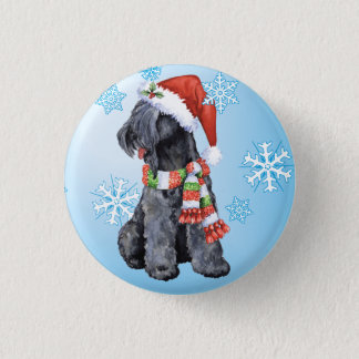 Happy Howliday Kerry Blue Terrier Button