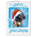 Happy Howliday Kerry Blue Terrier Card