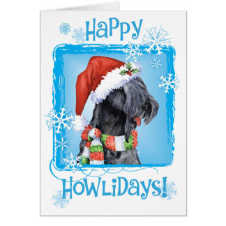 Happy Howliday Kerry Blue Terrier Greeting Card
