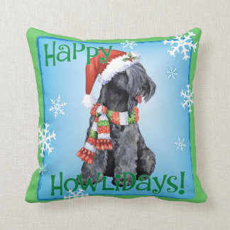 Happy Howliday Kerry Blue Terrier Pillows