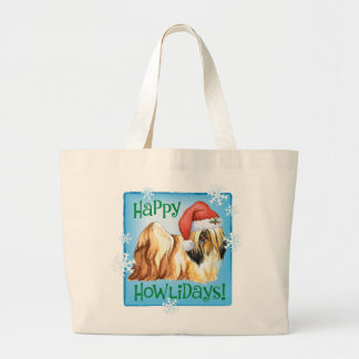 Happy Howliday Lhasa Apso Canvas Bag