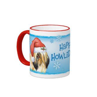 Happy Howliday Lhasa Apso Mugs