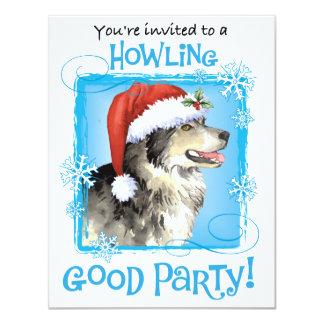Happy Howliday Malemute Card