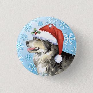 Happy Howliday Malemute Pinback Button