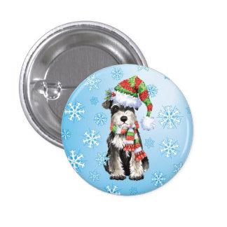 Happy Howliday Mini Schnauzer Pinback Button