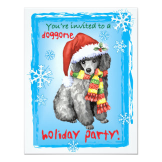 Happy Howliday Miniature Poodle Card