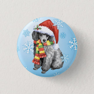 Happy Howliday Miniature Poodle Pinback Button