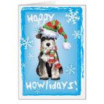 Happy Howliday Miniature Schnauzer Card