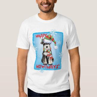 Happy Howliday Miniature Schnauzer T-shirt