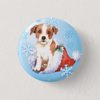 Happy Howliday Parson Russell Terrier Pinback Button