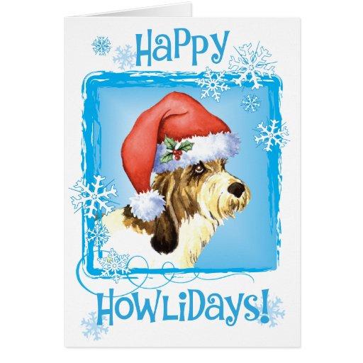 Happy Howliday PBGV Cards