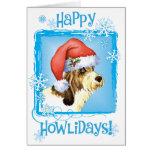 Happy Howliday PBGV Greeting Card