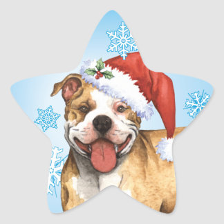 Happy Howliday Pit Bull Terrier Sticker