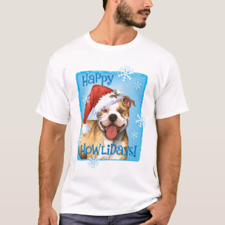 Happy Howliday Pit Bull Terrier T-Shirt