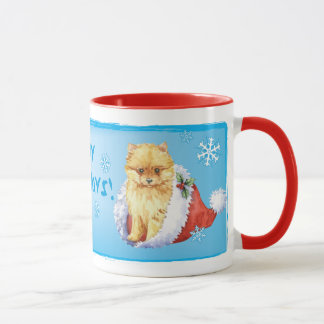 Happy Howliday Pomeranian Mug