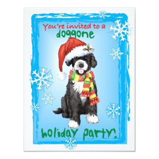 Happy Howliday Portuguese Water Dog Card