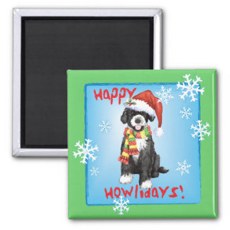 Happy Howliday Portuguese Water Dog Magnet