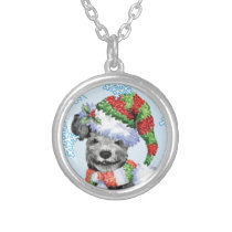 Happy Howliday Pumi Silver Plated Necklace
