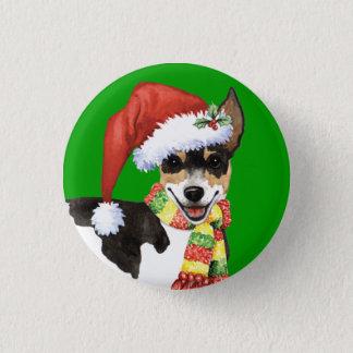 Happy Howliday Rat Terrier Button
