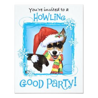Happy Howliday Rat Terrier Card