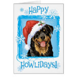 Happy Howliday Rottweiler Greeting Card