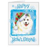 Happy Howliday Samoyed Greeting Cards