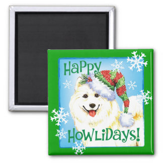Happy Howliday Samoyed Magnet