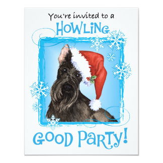 Happy Howliday Scottish Terrier 4.25x5.5 Paper Invitation Card