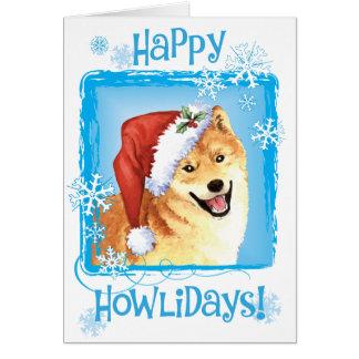 Happy Howliday Shiba Inu Card
