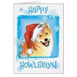 Happy Howliday Shiba Inu Greeting Card
