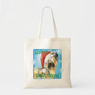 Happy Howliday Skye Terrier Tote Bag