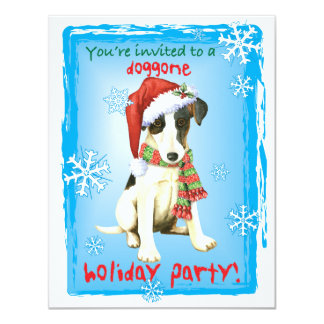Happy Howliday Smooth Fox Terrier Card