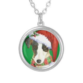Happy Howliday Smooth Fox Terrier Silver Plated Necklace