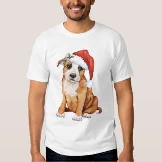 Happy Howliday Staffordshire Bull Terrier T Shirts
