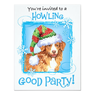 Happy Howliday Toller 4.25x5.5 Paper Invitation Card