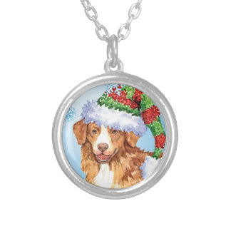 Happy Howliday Toller Round Pendant Necklace