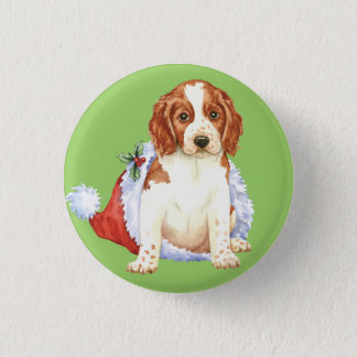 Happy Howliday Welshie Button