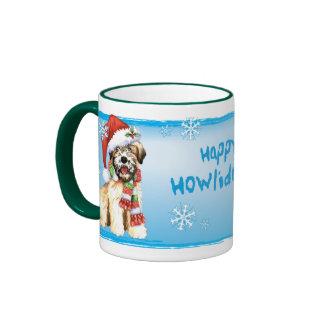 Happy Howliday Wheaten Ringer Coffee Mug